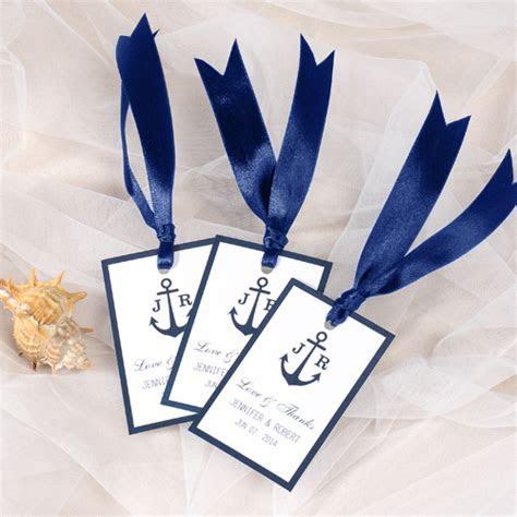 nautical anchor wedding favor tag thank you labels EWFR019