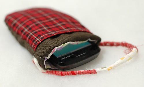 Cat phone case, Brown linen