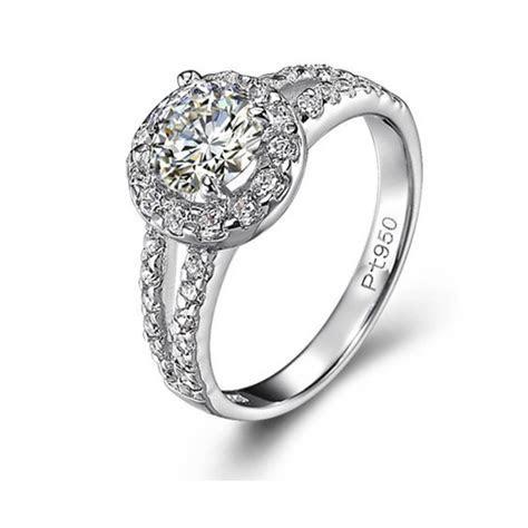 China Wedding Rings PT 950 with Diamond Jewelry   China
