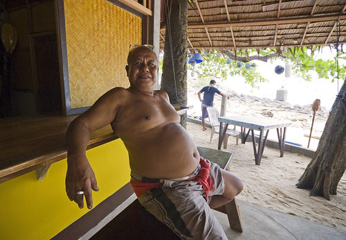 Restaurant owner at Ya Nui Beach