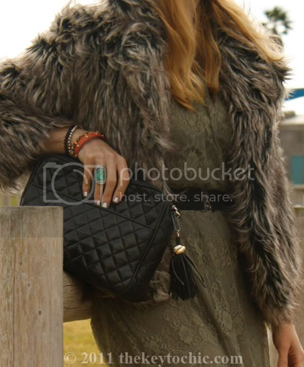 shaggy faux fur jacket, L.A. fashion blogger