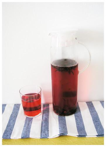 ginger plum oolong iced tea