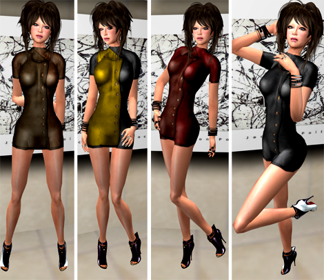 NEW! DeeTaleZ Dresses button up leather