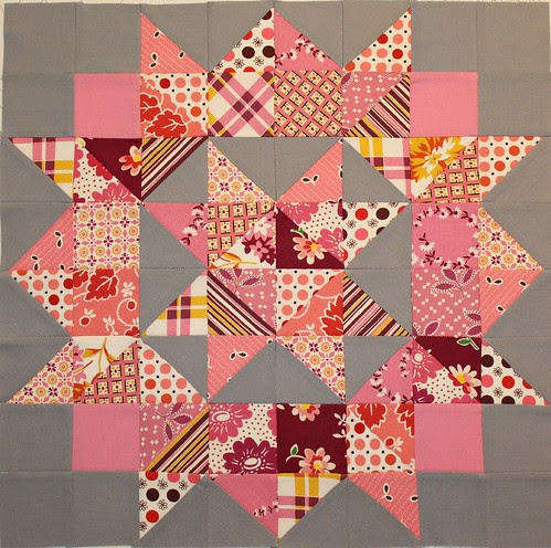 DS Doll Quilt Swap top by flickrdeb50