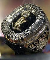 Shaq's championship ring with the Miami Heat.