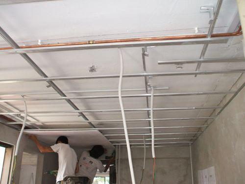 False Ceiling Installation in Progress