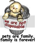 We are not disposable: Pets are family, family is forever