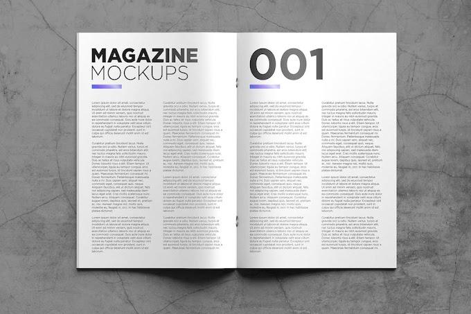 Magazine Mockups Pack 001