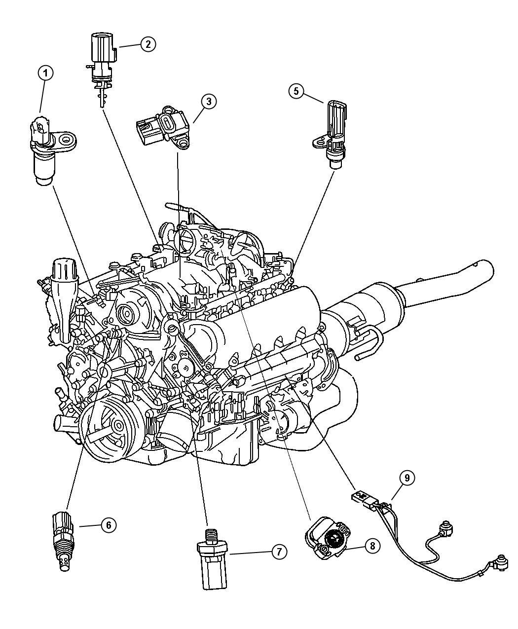 Diagram 2004 Dodge Durango 5 7 Engine Conpartment