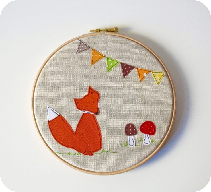 wall art hoop - Mr. Fox