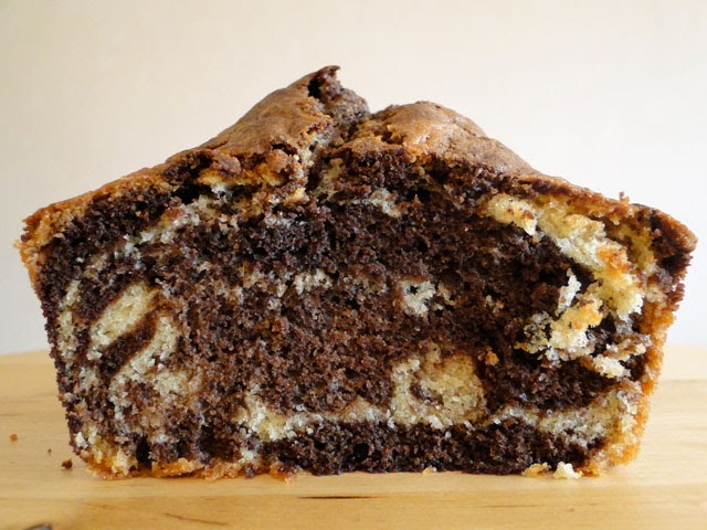 Traditional marble loaf cake