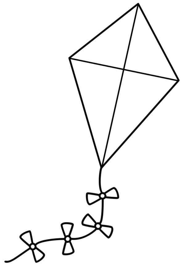 Kite coloring pages to download and print for free