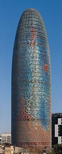 Torre Agbar in Barcelona, Spain. Taken by myse...