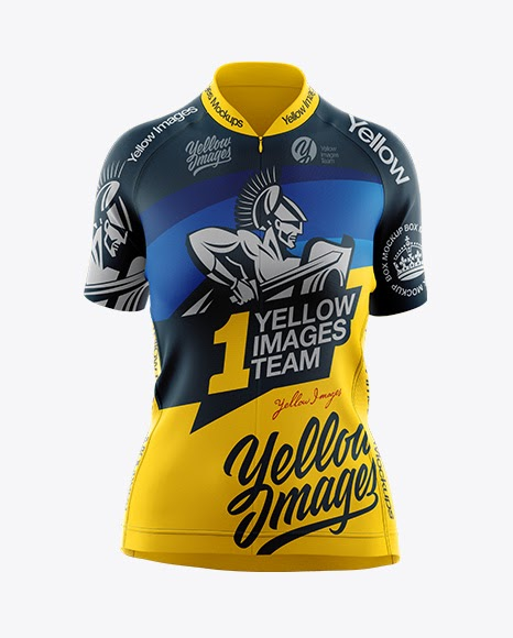 Download Women's Cycling Jersey Mockup - Front View | Mockup Resume