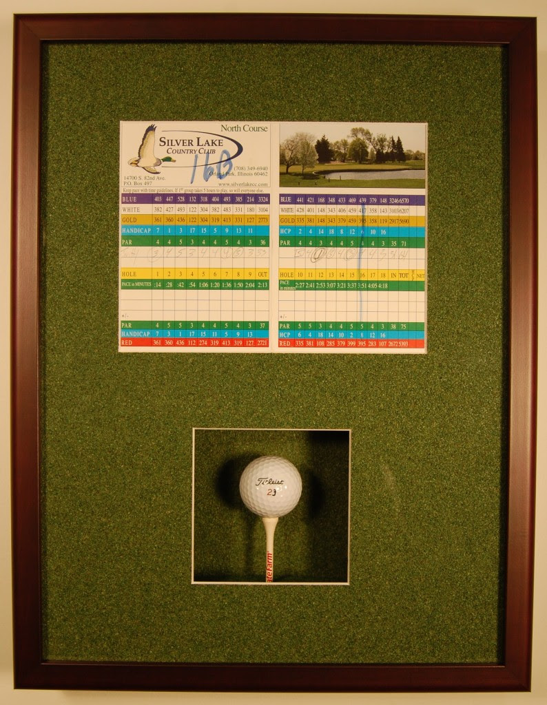 Hole In One Shadow Box Picture Frame Picture Frame Ideas