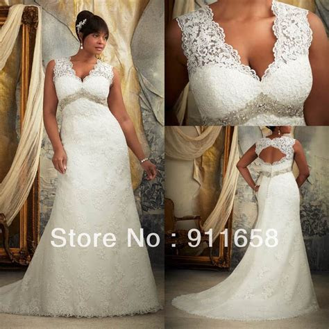 Vintage V neck A line Lace Open Back Wedding Dress 2013