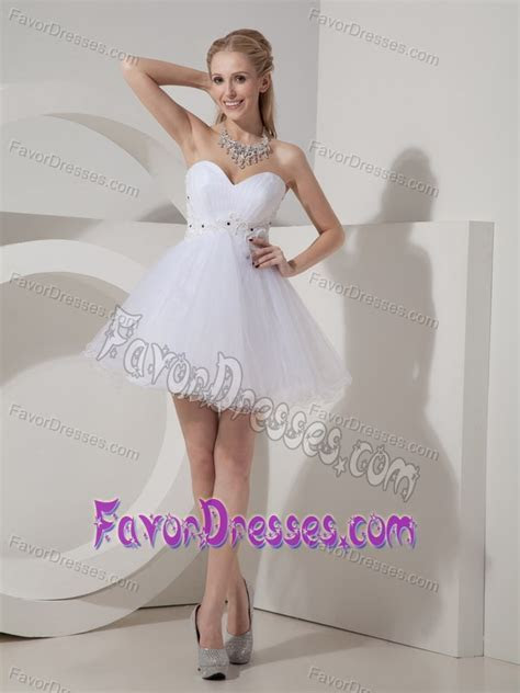 White Lace up Attractive Summer Graduation Ceremony Dress