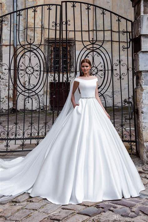 2016 Elegent A Line Wedding Dresses Off Shoulder Cap