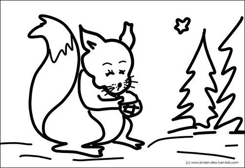 ausmalbilder tiere im winter
