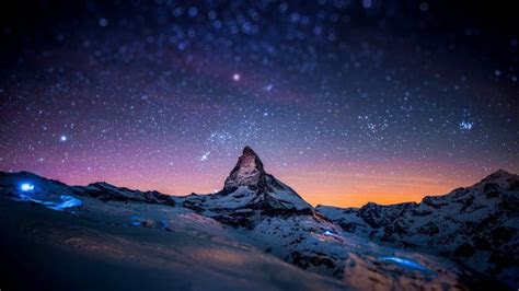 starry night   matterhorn wallpaper nature hd