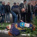 Dead policemen lying around