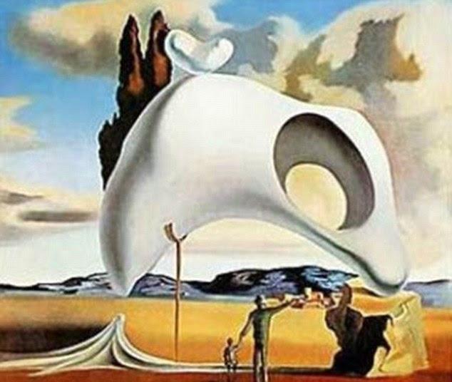 Inspiração: Vestígios de Dali atávicos Despues de la lluvia (Vestígios Atávicos após a chuva), pintado em 1934