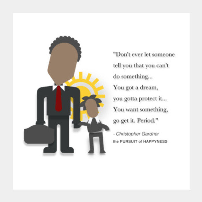 The Pursuit Of Happyness Minimal Poster Will Smith Quotes
