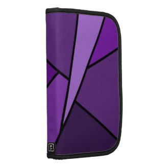 Abstract Purple Polygons Planner