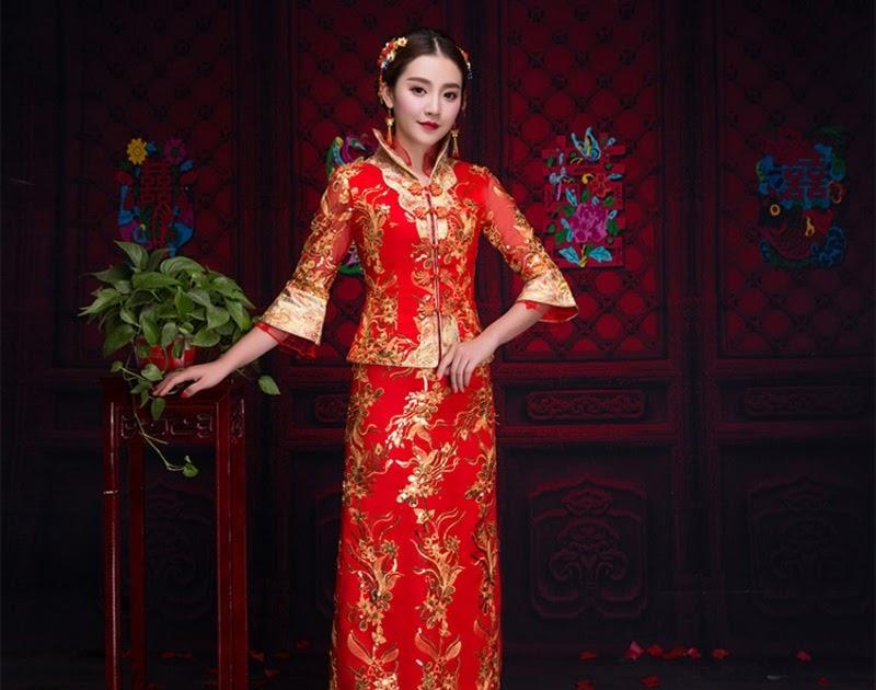 0c6163d720cdaf Beste Koop Rode Traditionele Chinese Kleding Vrouwen Traditie Dames  Borduren Cheongsam Qipao Bruiloft Oosterse Avondjurk Robe Goedkoop