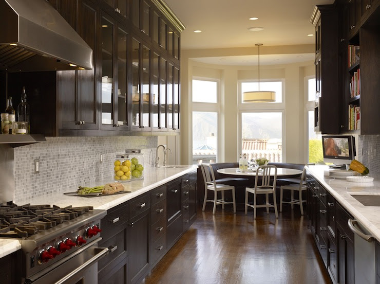Chocolate Brown Cabinets - Contemporary - kitchen - Artistic