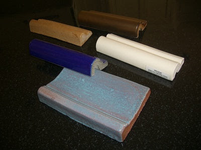 Typical Handmade Moldings made from different bisque