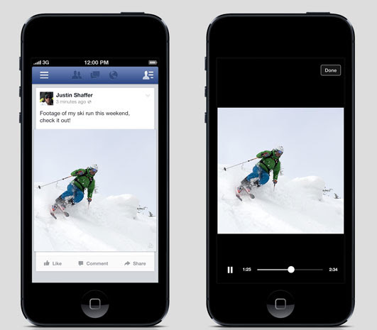Facebook's changing the way News Feed videos display on mobile, but it's only a test for now