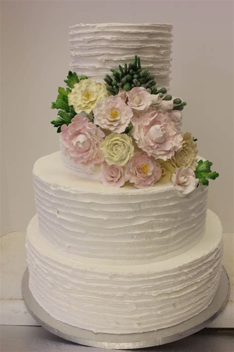 Textured Rustic Peony Wedding Cake   Xtra Special Cakes