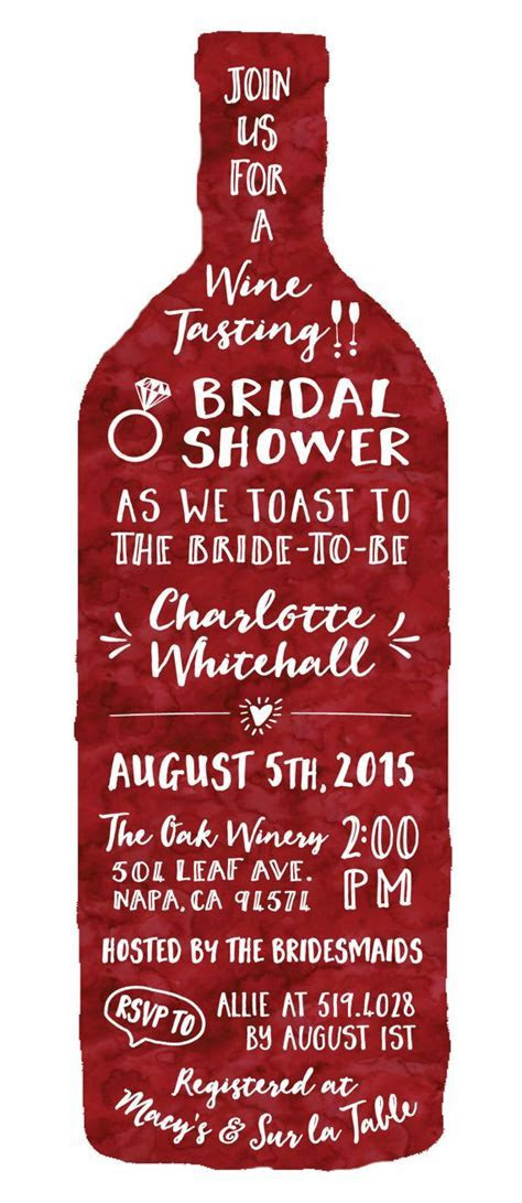 Wine Tasting Theme Bridal Shower Invitations   Modern