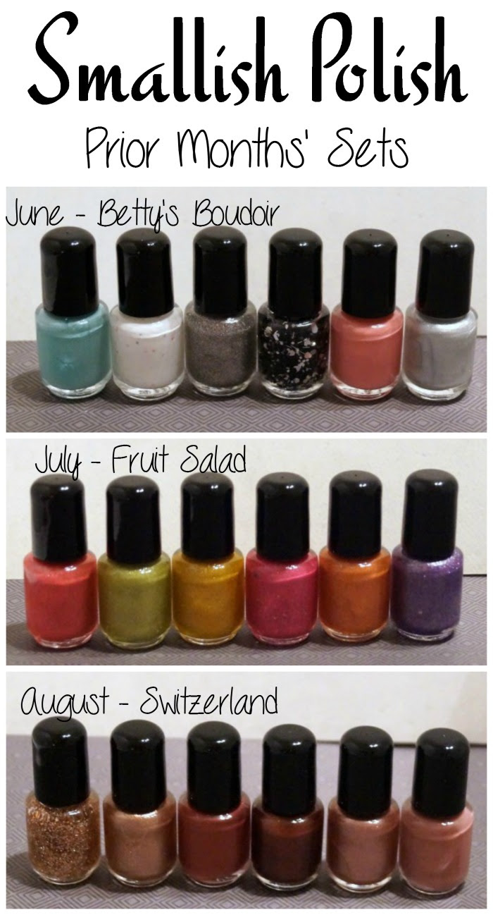 smallish polish prior months 2 Month Smallish Polish Deluxe Subscription Nail Polish Giveaway