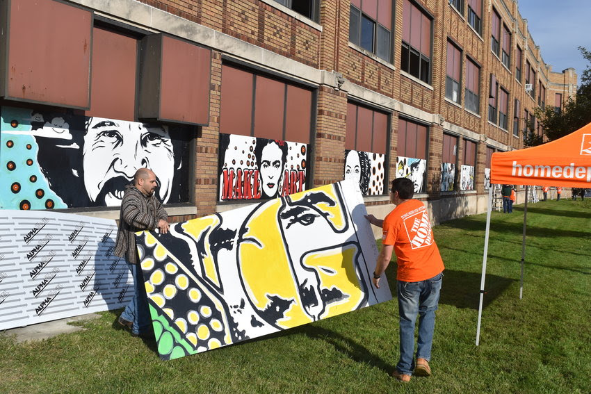 Happening Now In Lansing Walter French Building Coated In Murals