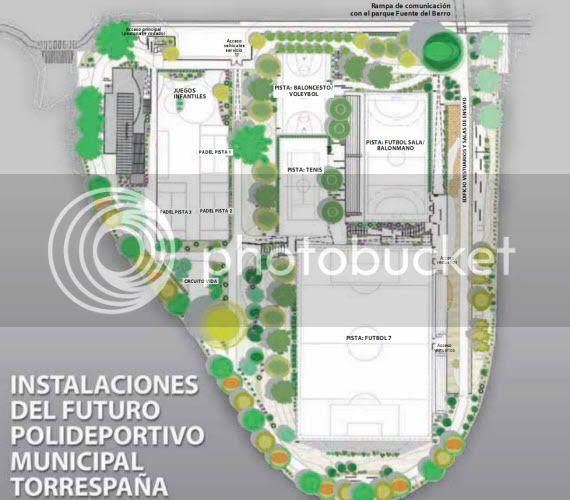 Abre parcialmente el nuevo centro deportivo municipal Torrespaña - pincha para ampliar el plano