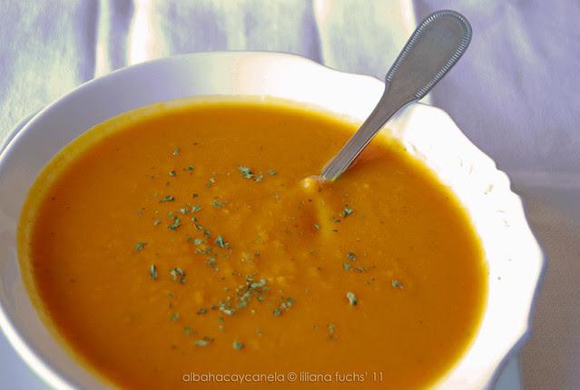 Pumpkin sweet potato soup