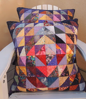 Scrappy Triangles Pillow Shams