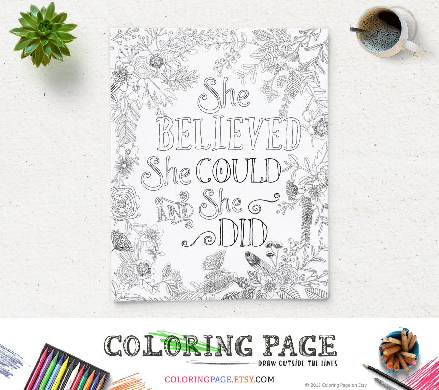 Coloring quotes | Etsy