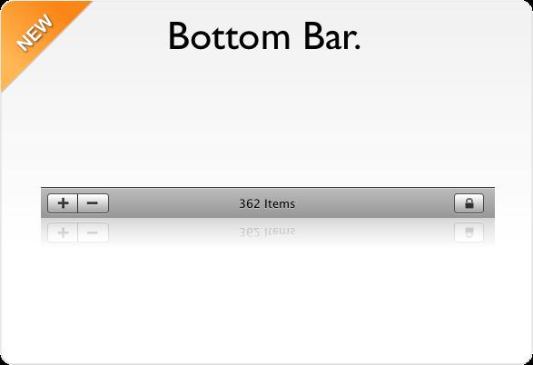 bottom bar dengan text berjalan