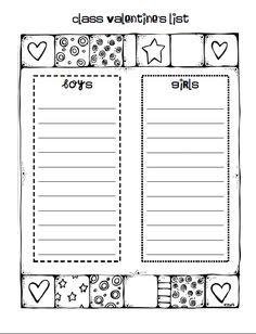 Valentine Parent Letter Free Editable   All for Kids/Education ...