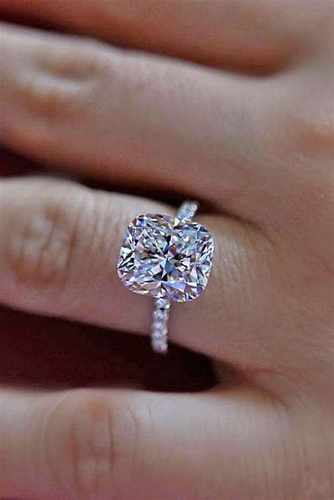 32 Stunning Cushion Cut Vintage Engagement Ring   Wedding