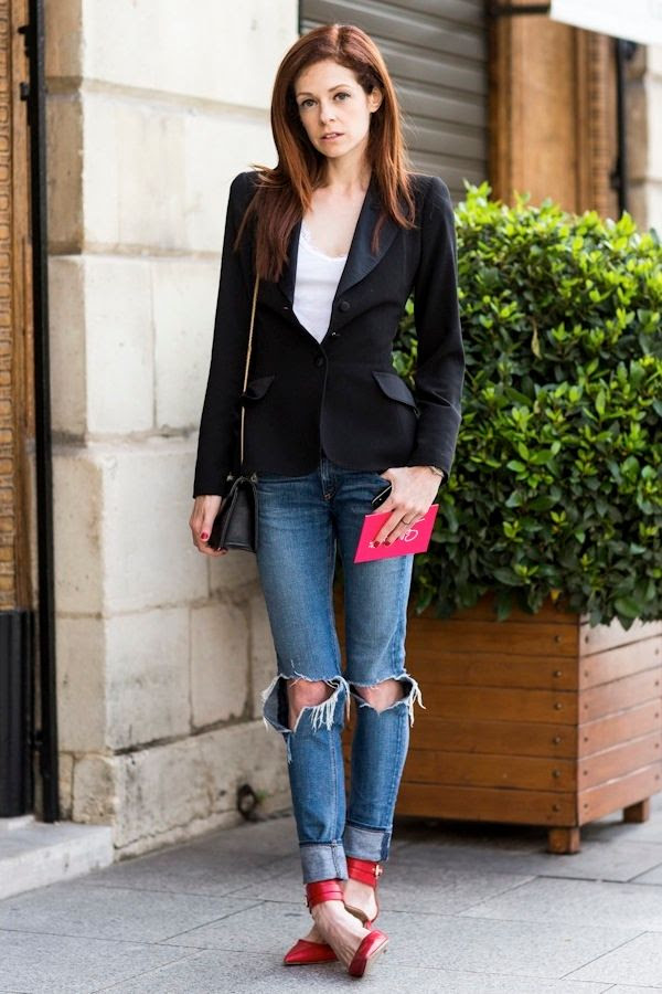 Le Fashion Blog How To Wear Ripped Jeans Stephanie LaCava Street Style Black Blazer Strappy Red Heels Via A Love Is Blind photo Le-Fashion-Blog-How-To-Wear-Ripped-Jeans-Stephanie-LaCava-Street-Style-Black-Blazer-Strappy-Red-Heels-Via-A-Love-Is-Blind.jpg