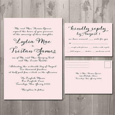 Simple Script Wedding Invitation & RSVP Card or Postcard