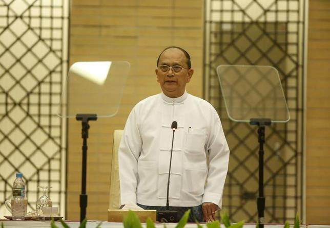 Myanmar's President Thein Sein in Naypyitaw September 9, 2015. REUTERS/Soe Zeya Tun
