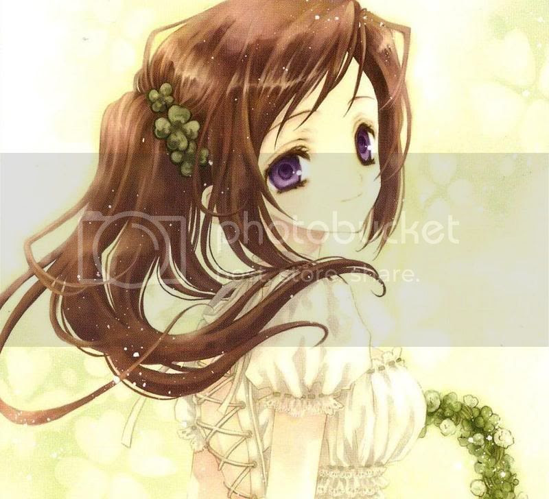 anime girl with brown hair and eyes. Adumi01.jpg brown hair purple eyes anime girl