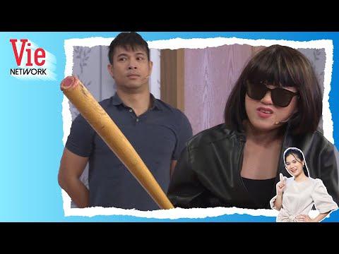 """Gia Đình 7 Nụ: Lâm Vỹ Dạ giả dạng giang hồ """"dởm"""" để xua đuổi bạn gái Voi Biển Trương Thế Vinh"""