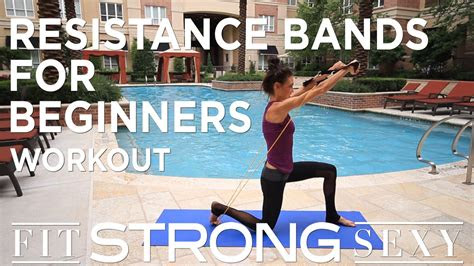 total body resistance band workout  beginners youtube
