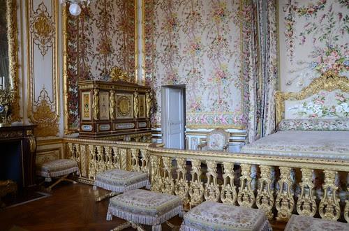 Marie-Antoinette's bedroom & jewelry cabinet, Versailles
